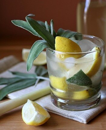 Lemongrass Sage Vodka Fizz {mind-over-batter.com}