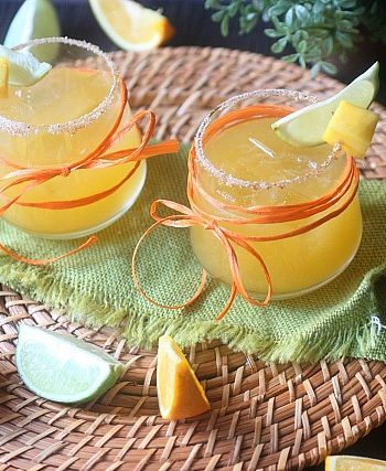 Mango Vulcan Cocktail {mind-over-batter.com}
