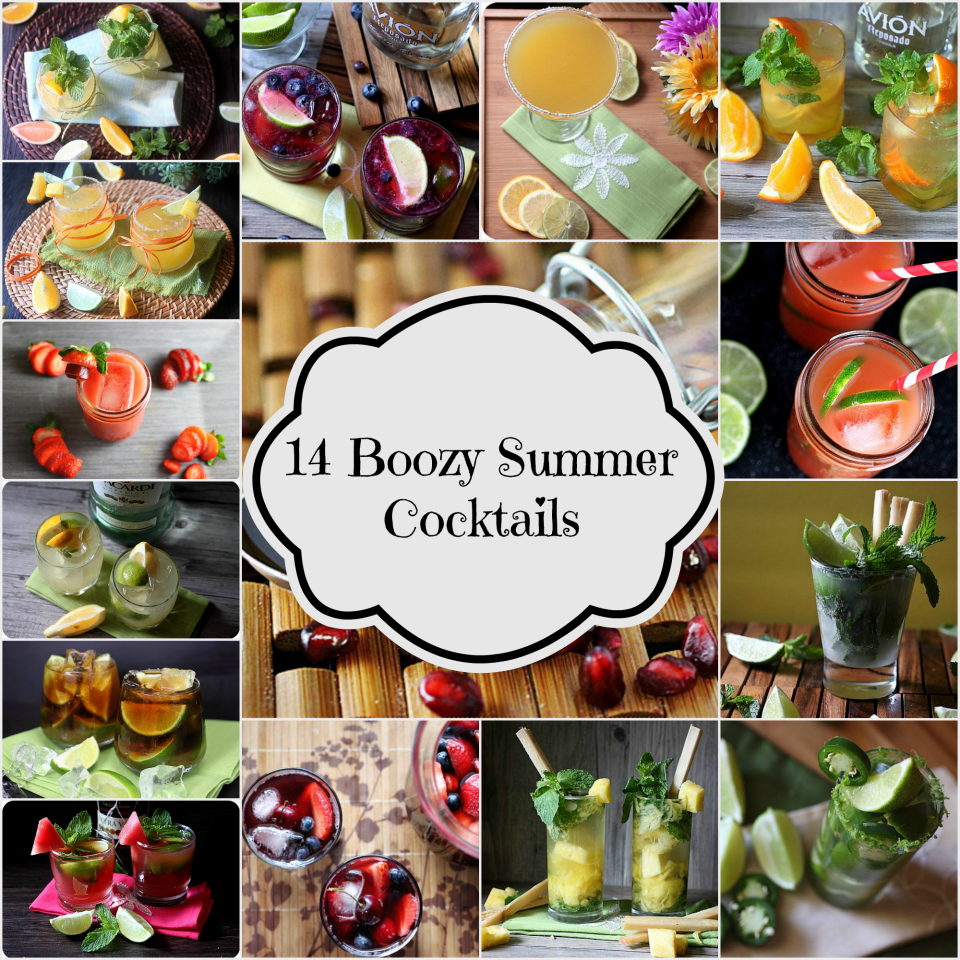14 Boozy Summer Cocktails {mind-over-batter.com}