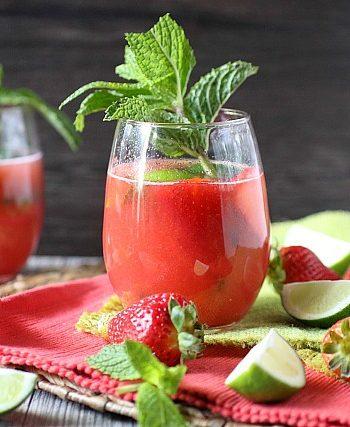 Strawberry Agua Fresca Rum Cocktail {mind-over-batter.com}