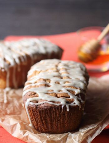 Mini Honey Vanilla Cream Cheese Pound Cakes {mind-over-batter.com}