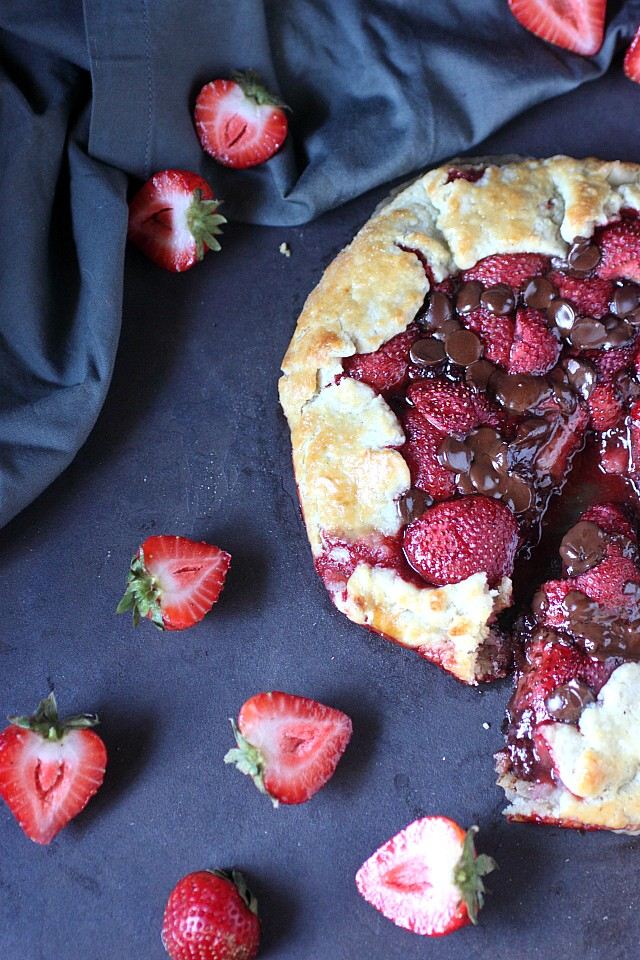 Strawberry Chocolate Galette -- www.mind-over-batter.com