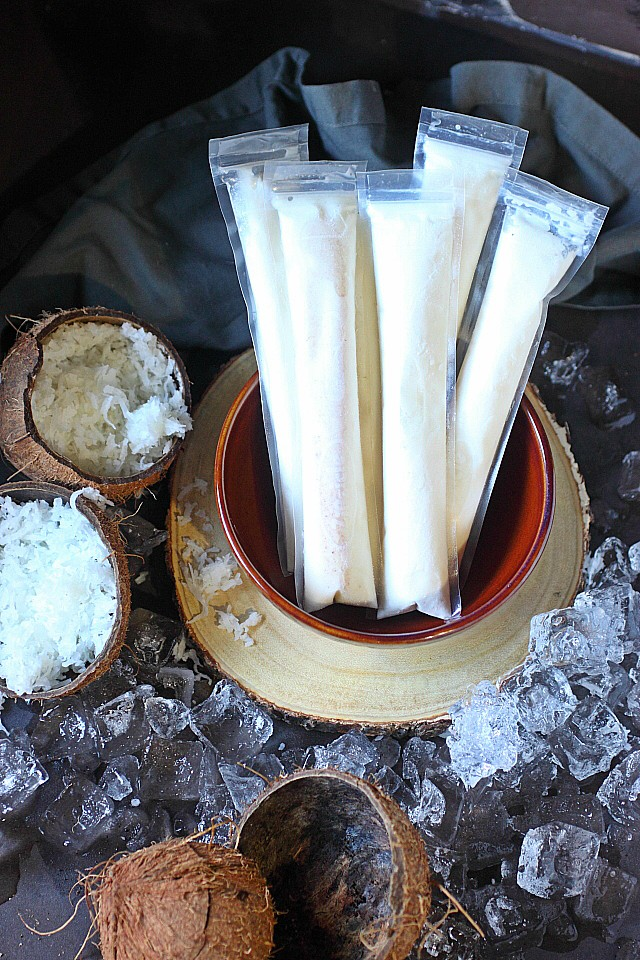 Coconut Rum Pops Recipe -- www.mind-over-batter.com