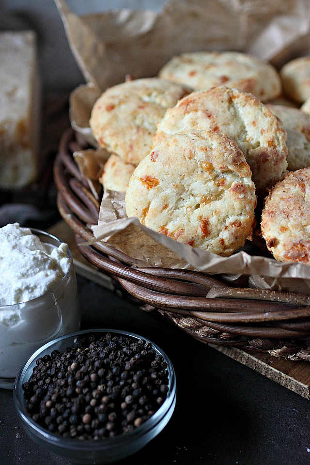 Ricotta Parmesan Gruyere Biscuits -- www.mind-over-batter.com