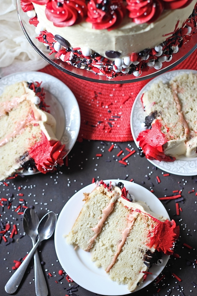 Coconut Guava Layer Cake: Recipe -- www.mind-over-batter.com